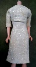 "#1664 VINTAGE DRESS 1960'S  "" SHIMMERING MAGIC  SILVER LAME SHEATH 60'S  ****"