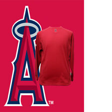 Men's Activewear Top Majestic Los Angeles Angels Baseball Scarlet XL Sweater
