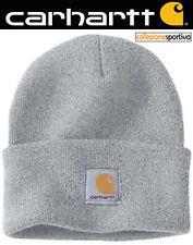 CAPPELLO BERRETTO CARHARTT ACRYLIC WATCH HAT - A18-HGY col. grigio chiaro eeccee33dc6b