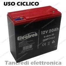 Batteria al piombo 12V 20Ah ciclica 6-DZM-20 PER VEICOLI ELETTRICI DEEP CYCLE