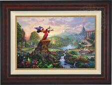 Thomas Kinkade FANTASIA 18 x 27 Limited Edition Canvas G/P (Burl Frame) Disney