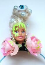 Zombie Eyeball Doll Flower Creepy Headdress Headband Pastel Goth Halloween