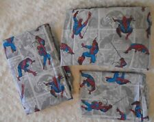 2014 Pottery barn kids comic book Spiderman twin bed sheet set 3pc.