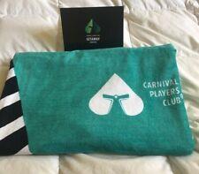 Carnival Cruise Players Club Getaway Beach Towel Black, White, Green New