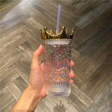 Starbucks China 2020 Anniversary Fish Scale Crown Siren Colorful Glass Straw Cup