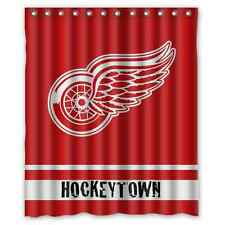 "Detroit Red Wings Hockeytown Hockey Waterproof  60""x 72"" Shower Curtain Bath"