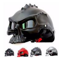 Skull Motorcycle helmet Retro half face helmets Motorbike Motocross Capacete