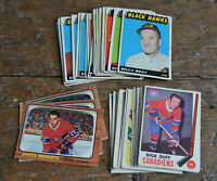 45 cards lot 1965 1966 1969 OPC O-Pee-Chee Vintage HOCKEY CARDS VG creases + EX