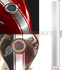 50cm Motorcycle Tank Fairing Cowl Vinyl Pinstripe Sticker For Cafe Racer Silver