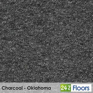 Berber Loop Pile Carpet Carpets Hardwearing Stain Resist Grey Black Hall CHEAP