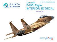 Quinta QD48041 1/48 F-15D 3D-Printed & coloured interior for GWH kit