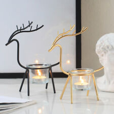 Metal Centerpiece Candle Stand Holder Wedding Party Nordic style elk Luxe Living