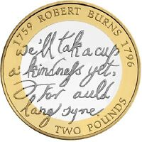 2009 £2 BIRTH OF ROBERT BURNS 1759-1795 TWO POUND COIN HUNT 18/32 RARE 2 xx