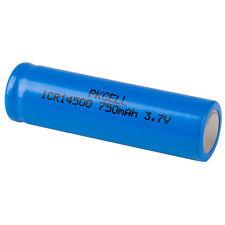 PKCELL Flat Top 14500 Li-Ion 3.7V 750mAh Rechargeable Battery
