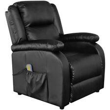 vidaXL Massagesessel Fernsehsessel TV Sessel Relaxsessel Kunstleder Heizfunktion