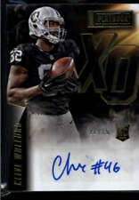 Clive Walford Auto /25 2015 Panini Playbook Rookie Xs and Os Signatures Gold OAK