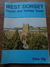 West Dorset Tourist and Holiday Guide c1970 by W Dorset Council with Map Adverts