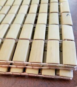 """Set of 4 - Bamboo Rectangular Block Placemats 12.75"""" x 18.2""""  (1)"""