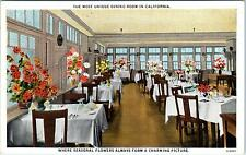 SANTA MARIA, CA California  Santa Maria Inn DINING ROOM   c1920s  Postcard