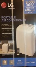 NEW LG Electronics 8,000 BTU Portable Air Conditioner/Dehumid (White) LP0817WSR