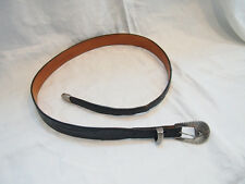 Ostrich Signed Sterling Belt Falconhead Size 34