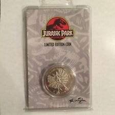 """Jurassic Park Coin Silver Plated """"Find Nedry"""" Limited Edition #0583"""