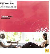 Prospekt / Brochure Renault Twingo Nokia 12/2007