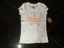 NWT Juicy Couture New & Genuine Girls Age 6 White Cotton T-Shirt With Juicy Logo