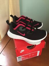 Nib Nike Hakata Size 9 Toddler Girls Shoes Black Rush Pink White