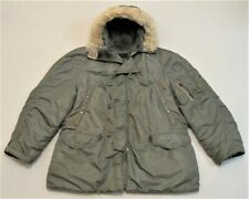 Usaf U.S. Air Force N-3B Extreme Cold Weather Parka X-Large Black Label 1950's