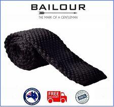 Bailour Tie Mens Luxury Black Formal Knitted Skinny Slim Tie