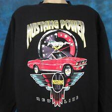 vintage 90s FORD MUSTANG REDLINE CREWNECK SWEATSHIRT T-Shirt XL muscle car tee