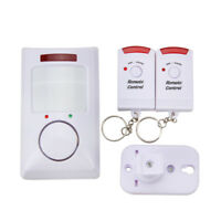Wireless PIR Motion Sensor Alarm with 2 Remote Controls Home Garage Shed Caravan