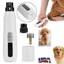 Professional Electric Pet Dog Cat Nail Trimmer Grooming Tool Grinder Clipper Kit