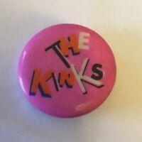"The Kinks Button Badge Pin Pinback Vintage 1"" Round Concert Tour 165"