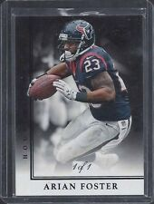 ARIAN FOSTER 2014 LIMITED BLACK TRUE #D 1/1