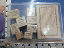 What's For dinner set  soups meats  vegetable Recipe STAMPIN UP RUBBER STAMP 24L