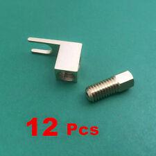 12 x Gold Plated Copper Spade Banana Fork plug Mcintosh Amp Eico tube Adapter