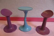 Barbie Doll JAM N GLAM Replace RV BUS Furniture Blue/Purple Table/Chairs Stools