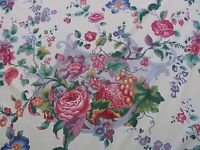 BY YD SCALAMANDRE LA NEUVEVILLE PRINT FRUIT FLOWER HARVEST PALE PEACH MSRP$112/Y