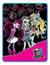 """Mattel Monster High Forever Ghouls Micro Raschel Plush Throw Blanket 46""""x 60"""""""