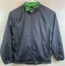 Hind Brand Running Windbreaker Jacket Men's Size XL Gray And Green Mesh Lined