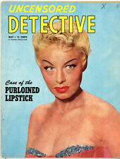 Legendary Stripper Lili St. Cyr  on Cover of Uncensored Detective Magazine 1952