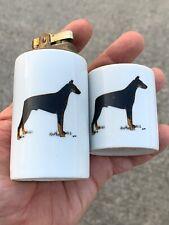Vintage Antique Doberman Pinscher Porcelain Lighter & Cigarette Ash Tray ��sj3j