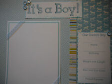 Baby Boy 20 Page 12x12 Premade Scrapbook Pages in Set for new Mom and Album