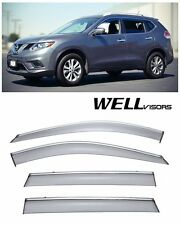 For 14-UP Nissan Rogue WellVisors Side Window Visors W/ Chrome Trim