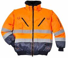 Portwest Workwear Mens Hi-vis Pilot Jacket Large PJ50ONRL Orna