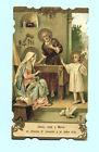 ANTICO SANTINO CROMO S.LEGA LA SACRA FAMIGLIA IMAGE PIEUSE - HOLY CARD SANTINI