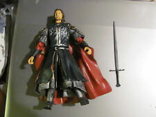 Lord of the Rings Super Poseable Pelennor Fields Aragorn LOOSE MINT COMPLETE