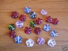 20 x Glass Flower Beads Amber BNGF08